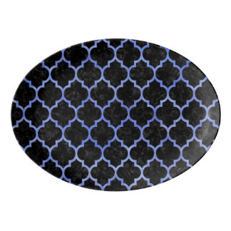 TILE1 BLACK MARBLE & BLUE WATERCOLOR PORCELAIN SERVING PLATTER