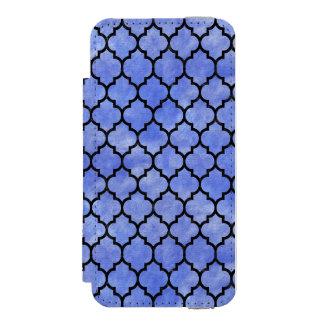 TILE1 BLACK MARBLE & BLUE WATERCOLOR (R) INCIPIO WATSON™ iPhone 5 WALLET CASE