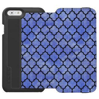 TILE1 BLACK MARBLE & BLUE WATERCOLOR (R) INCIPIO WATSON™ iPhone 6 WALLET CASE