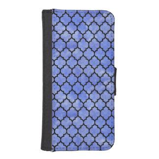 TILE1 BLACK MARBLE & BLUE WATERCOLOR (R) iPhone SE/5/5s WALLET CASE