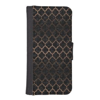 TILE1 BLACK MARBLE & BRONZE METAL iPhone SE/5/5s WALLET CASE