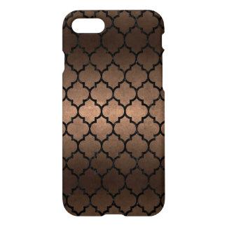 TILE1 BLACK MARBLE & BRONZE METAL (R) iPhone 8/7 CASE