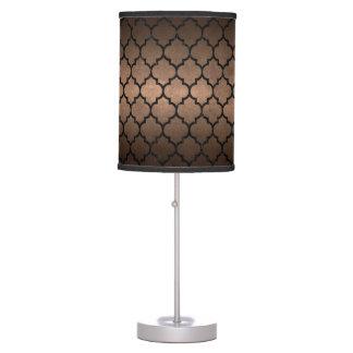 TILE1 BLACK MARBLE & BRONZE METAL (R) TABLE LAMP