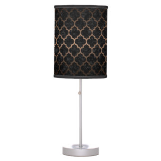 TILE1 BLACK MARBLE & BRONZE METAL TABLE LAMP