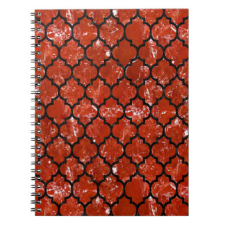 TILE1 BLACK MARBLE & RED MARBLE (R) NOTEBOOK
