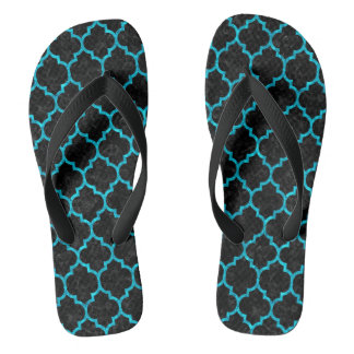 TILE1 BLACK MARBLE & TURQUOISE MARBLE FLIP FLOPS
