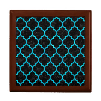 TILE1 BLACK MARBLE & TURQUOISE MARBLE GIFT BOX