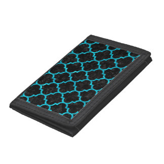 TILE1 BLACK MARBLE & TURQUOISE MARBLE TRIFOLD WALLET