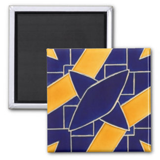 Tile 1 - blue/yellow square magnet