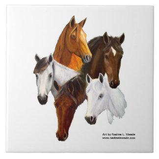 Tile, 5 Horse Heads Tile