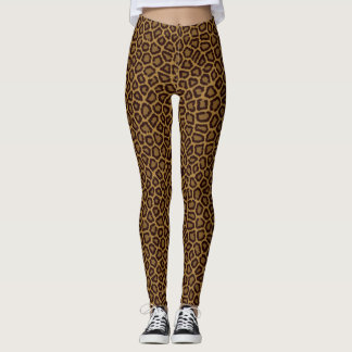 Tile background with a leopard fur leggings