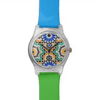 Tile decoration at Bahia Palace Wristwatches
