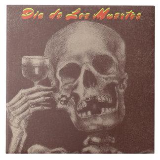 Tile Dia de Los Muertos Party Trivet Skull Toast