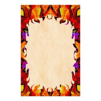 Tile Flower Flame Stationery