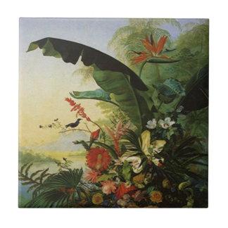 Tile Hawaiian Tropical Flower Bird of Paradise