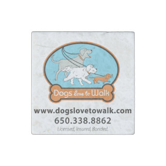 Tile Magnet Dogs Love To Walk Stone Magnets