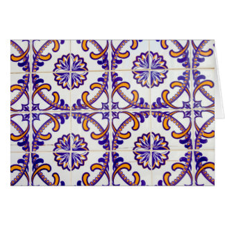 Tile pattern close-up, Portugal Card