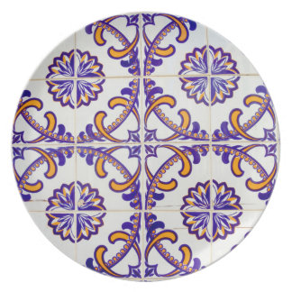 Tile pattern close-up, Portugal Dinner Plate