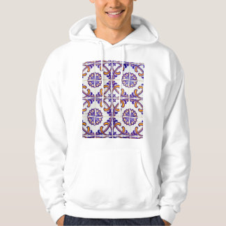 Tile pattern close-up, Portugal Hoodie