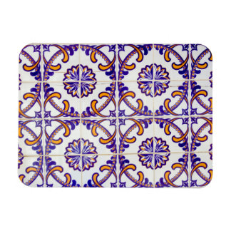 Tile pattern close-up, Portugal Rectangular Photo Magnet