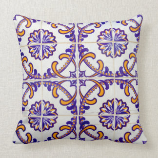 Tile pattern close-up, Portugal Throw Pillow