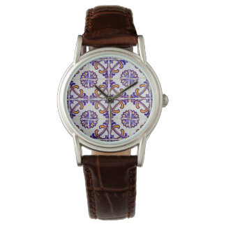 Tile pattern close-up, Portugal Wrist Watches