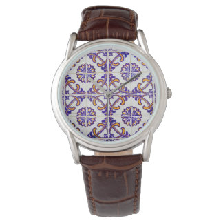 Tile pattern close-up, Portugal Wristwatches