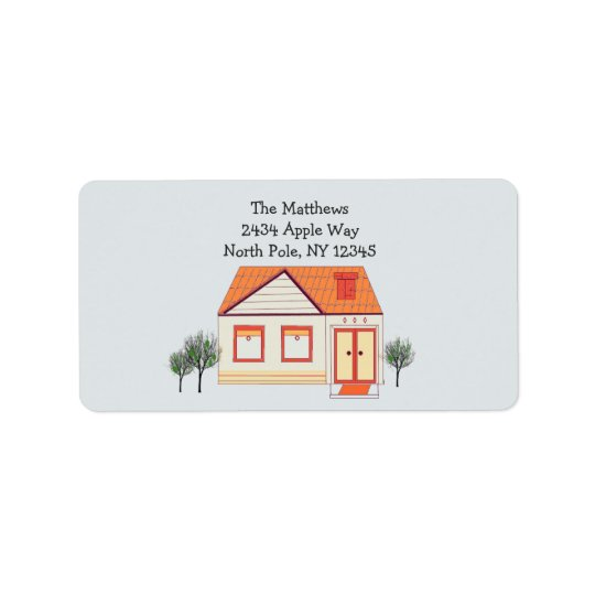 Tile Roof New Home Address Label