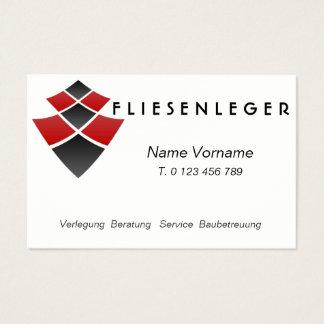 Tile setter - craftsmen business card