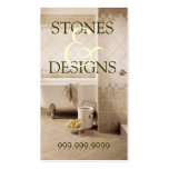 Tile Stone Granite Marble Construction Flooring Business Card Templates