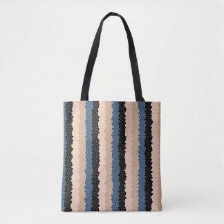 Tile Stripe Tote Bag
