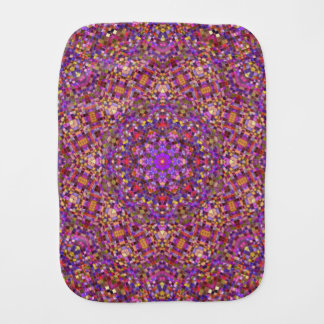 Tile Style Kaleidoscope Burp Cloth