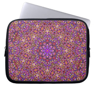 Tile Style Kaleidoscope   Neoprene Laptop Sleeves