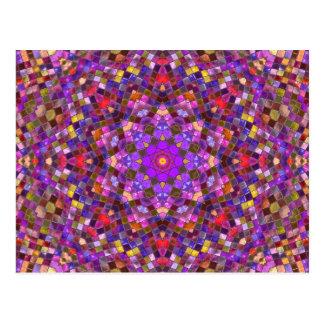 Tile Style Kaleidoscope   Postcards