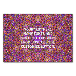Tile Style Kaleidoscope  Tablecards Card