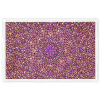 Tile Style Pattern    Acrylic Trays, 2 shapes 4 si Acrylic Tray