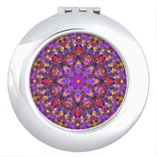 Tile Style Pattern   Compact Mirrors, 4 shapes Travel Mirror