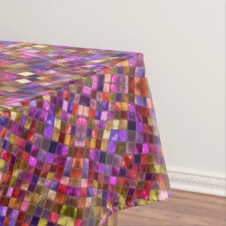 Tile Style Pattern Custom Cotton Tablecloths
