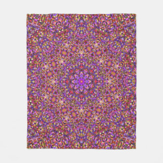 Tile Style Pattern Custom Fleece Blanket, 3 sizes