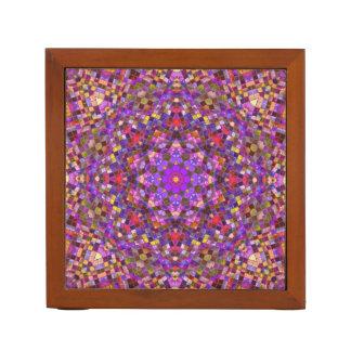 Tile Style Pattern  Desk Organizer