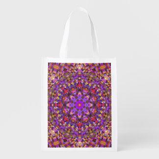 Tile Style Pattern Reusable Bag