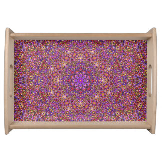 Tile Style Pattern  Serving Trays, 2 sizes Serving Tray
