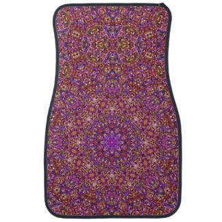 Tile Style Pattern Vintage Car Floor Mats Front