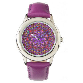 Tile Style Pattern Vintage Kids Watch