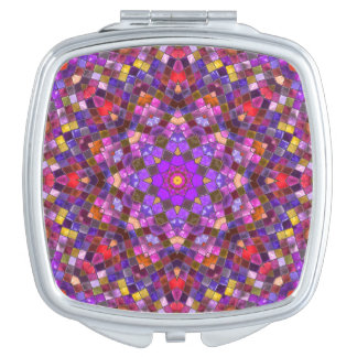Tile Style  Vintage Kaleidoscope   Compact Mirrors