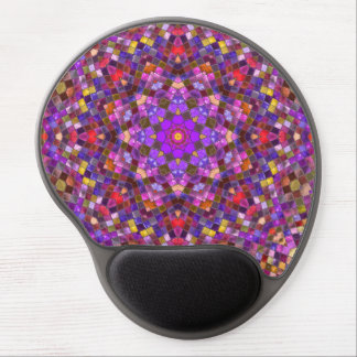 Tile Style Vintage Kaleidoscope Gel Mousepad