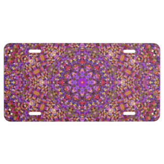 Tile Style  Vintage Kaleidoscope   License Plates
