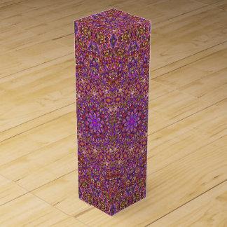 Tile Style Vintage Kaleidoscope  Wine Gift Box