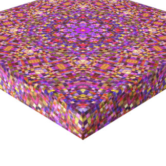Tile Style  Vintage Kaleidoscope Wrapped Canvas