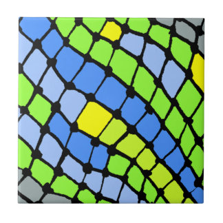 Tile Vintage Retro Colorful Abstract Fish Net